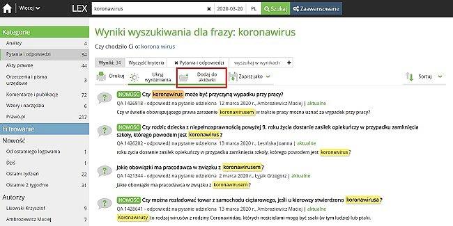 Zapisane listy – jak pomogą w wyszukiwaniu informacji o koronawirusie?