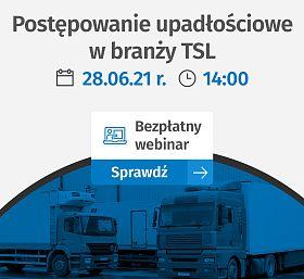 Postępowanie upadłościowe w branży TSL - BEZPŁATNY WEBINAR